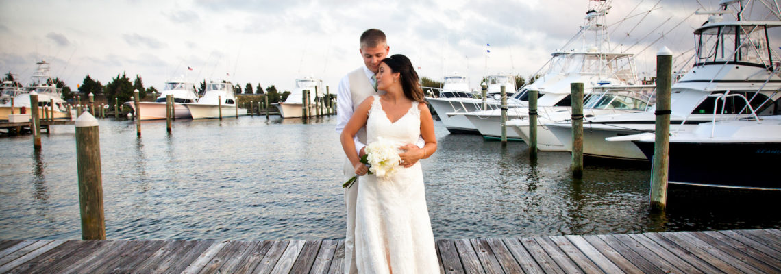 Chelsea & Josh's Pirate's Cove Pavilion Wedding | Manteo Wedding Planner