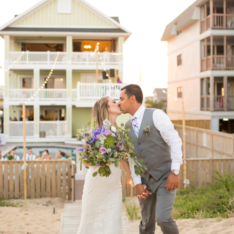 Jessica & David's Kill Devil Hills Event Home Wedding | Kill Devil Hills Wedding Planner