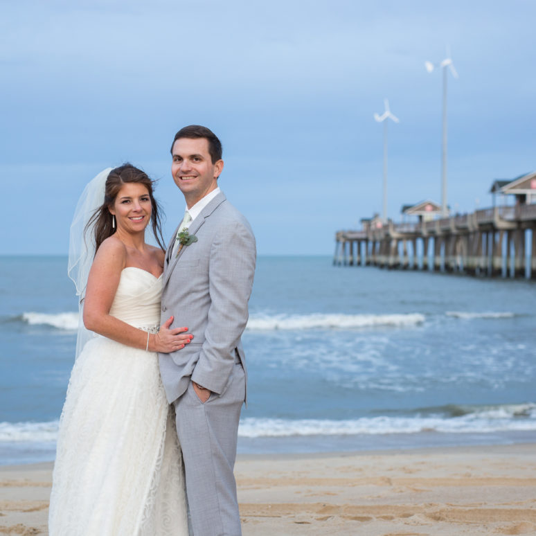 Jennette's Pier Wedding | Lindsey & Seth | Nags Head Wedding
